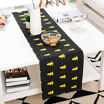 Nordic elk cuadro Runners amarillo y negro serie de algodón y lino de largo barra de toalla ...