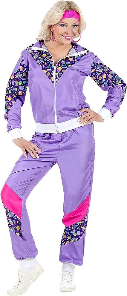 WIDMANN Disfraz de Chándal de Años 80 Violeta para Adulto M ...