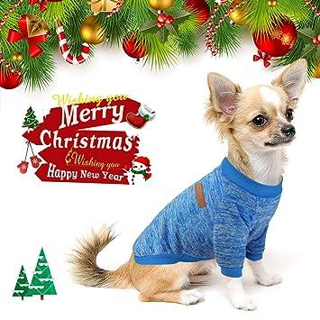 Idepet - Sueter para mascota, gato o perro, forro polar para cachorro extra-small azul: Amazon.es: Productos para mascotas