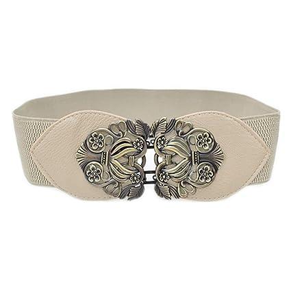 godere del prezzo di sconto vari stili miglior sito web TOOGOO(R) Cintura a Vita Alta con Cinturino Elastico Elasticizzato a Fiore  Retro'(Rosso)