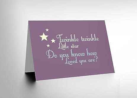 Amazon twinkle star nursery rhyme baby child art greetings twinkle star nursery rhyme baby child art greetings greeting card gift cl1262 m4hsunfo