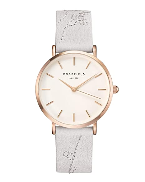 Rosefield City Bloom Cuarzo - Reloj (Reloj de pulsera, Femenino, Rose gold,