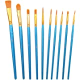 CCINEE Acrylic Paint Brushes Set, 20Pcs Artist Paintbrushes for Paint Brushes Oil Watercolor Beginner/Kids Arts Crafts…