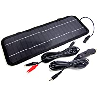 NUZAMAS Poartable 4.5W Solar Panel Charger Power Car Battery 12V Recharge Outdoor Camping Travel Power Source