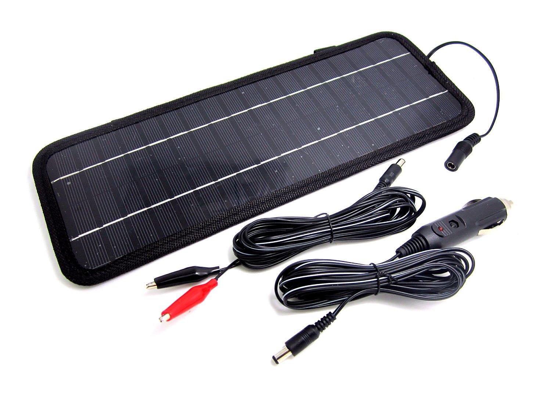 NUZAMAS Poartable 4.5W Panel Solar Cargador Coche Bater/ía 12V Recarga al Aire Libre Camping Viaje Potencia Fuente de Alimentaci/ón