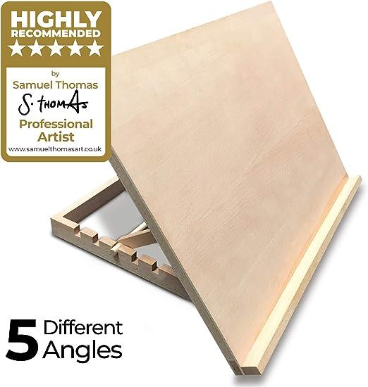 Atril/mesa/caballete para escritorio de madera ajustable tamaño A3 ...