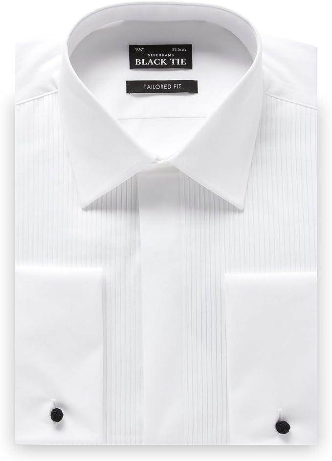 Camisa de Vestir de algodón con Corbata Negra para Hombre ...