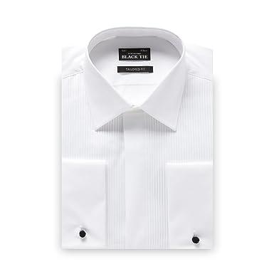 Camisa de Vestir de algodón con Corbata Negra para Hombre, Color ...