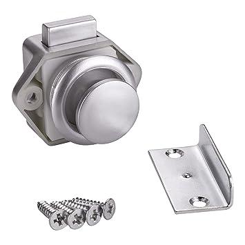1 x SO-TECH® Cerradura Mueble Push-Lock Cerradura de Presión Cerradura Pulsador para Caravanas y Barcos: Amazon.es: Bricolaje y herramientas