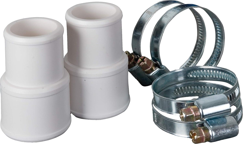 Kit di collegamento tubo GRE AR511-Hose: 2 raccordi e 4 morsetti di 38 e 32 mm di diametro
