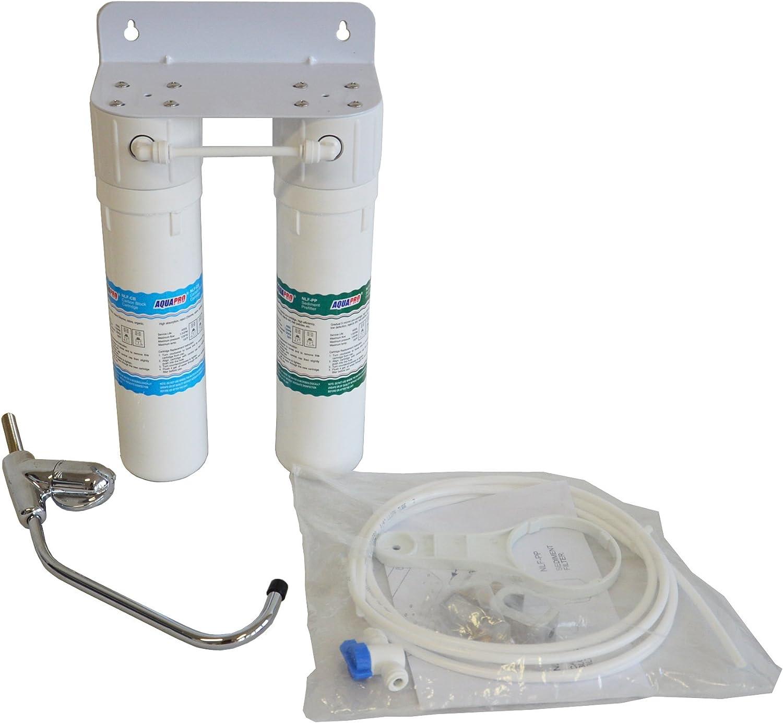 Sistema de filtro purificador de agua Aquapro Light a 2/niveles de filtraci/ón