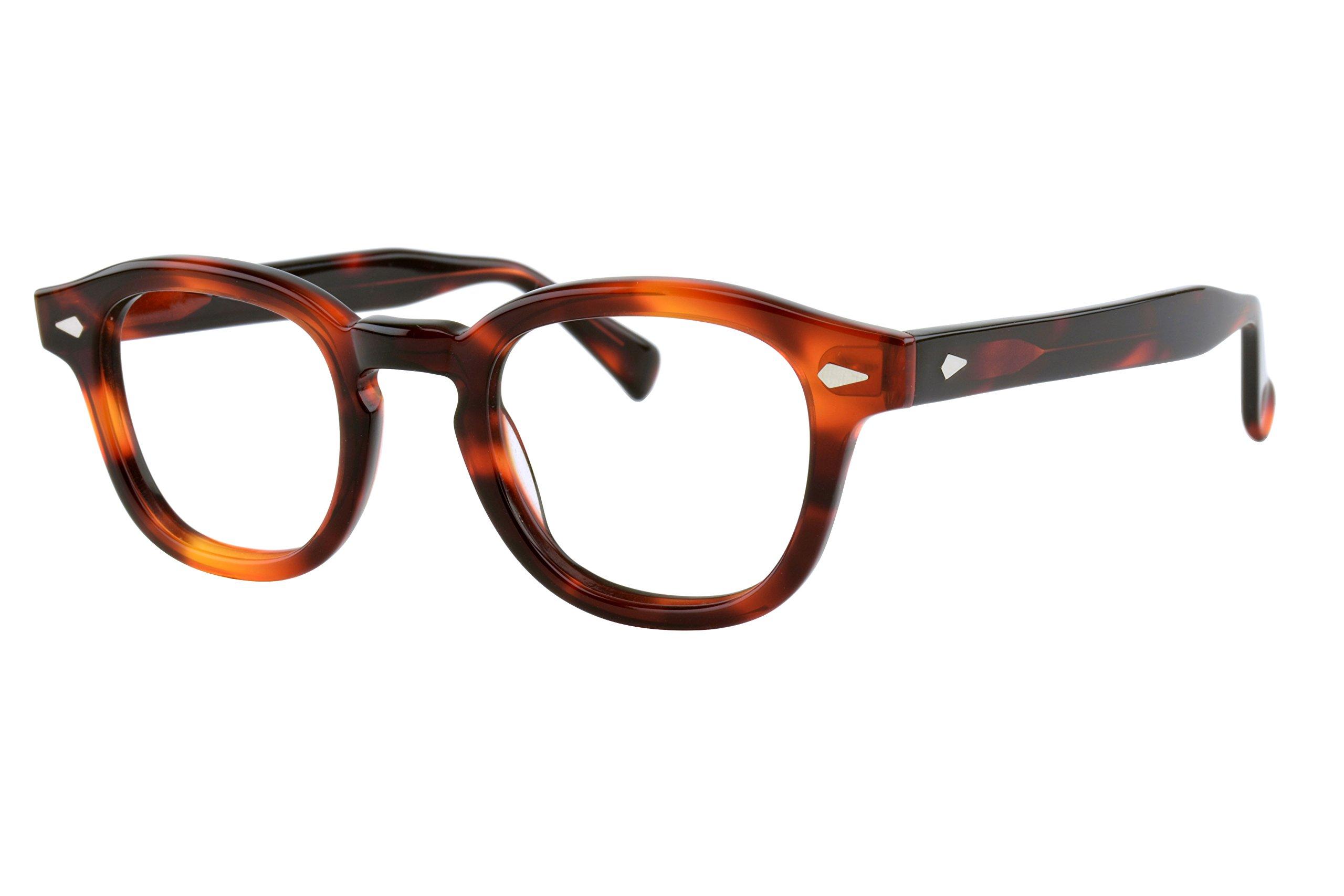 Verona Love Hand-Made Acetate Non Prescription Eyeglasses Frame Premium EyeWear Clear Lens Vintage Style Glasses Frames (VLV46 C003)