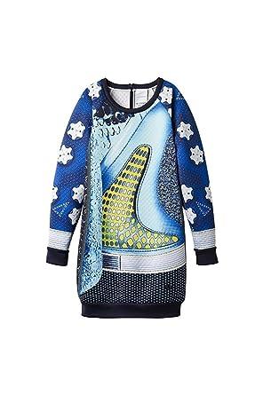 c072a29092c adidas Originals by Mary Katrantzou Women's Sweatshirt Dress, Multi, Small