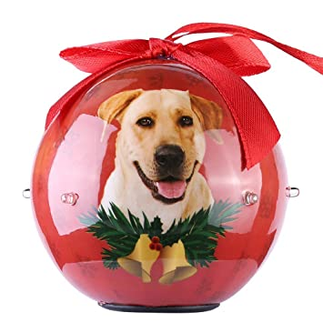 2017 newest christmas dog collection shatterproof ball ornaments with twinkling lights beautiful decorative hanging pendants - Labrador Outdoor Christmas Decoration