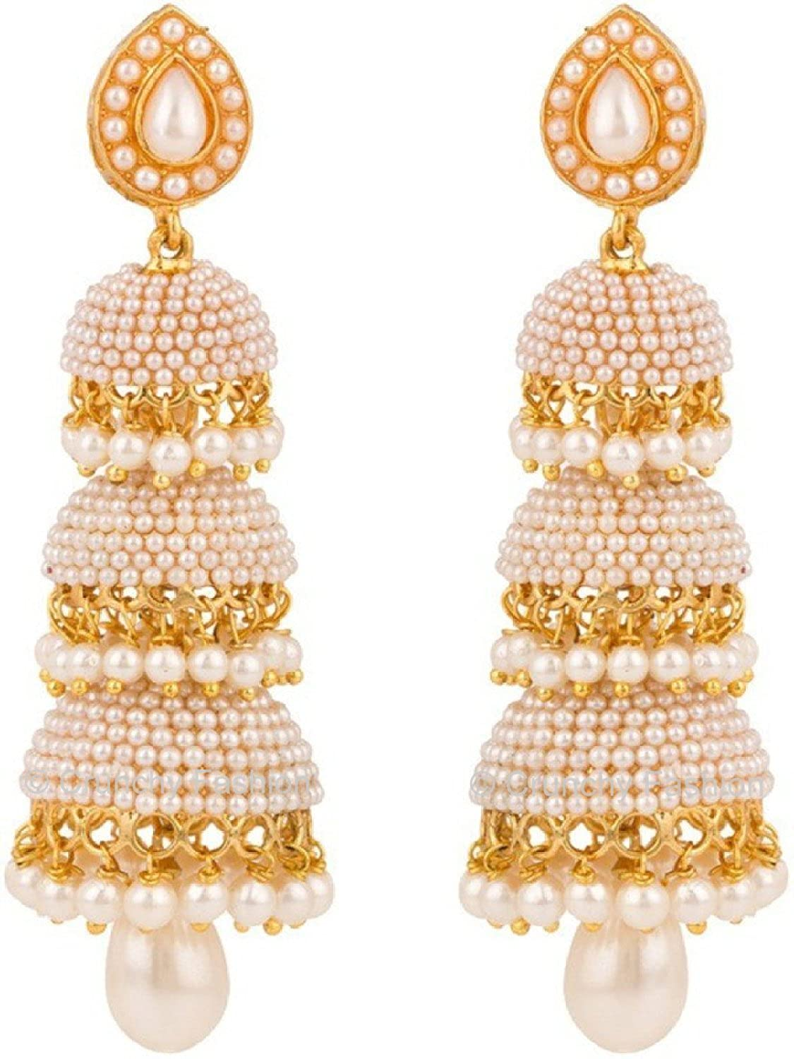 Buy Royal Bling Gold Plated Jhumki Earrings For Girls & Women ...
