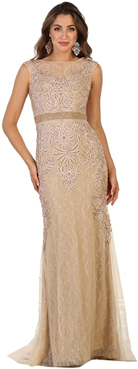 Royal Queen RQ7524 Special Occasion Demure Dress at Amazon Womens Clothing store: