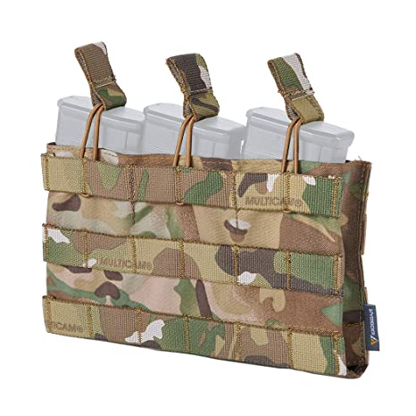 Airsoft Tactical MOLLE DOPPIO Mike 4 elastici Magazine Pouch,