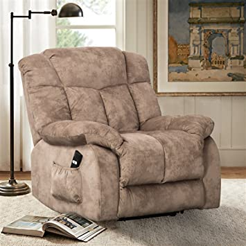 CANMOV Power Lift Chair Soft Fabric Upholstery Recliner Overstuffed ...