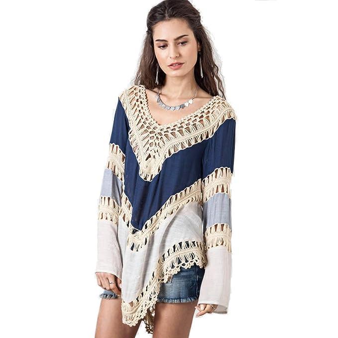 2 Pack Verano Mujeres Moda Atractivo Hueca Costura Blusa Del Bikini Dos Opciones De Color,