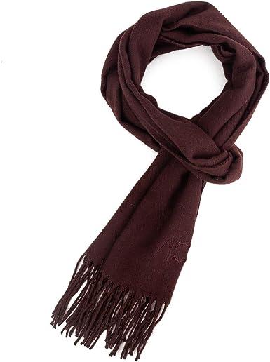 ALBERTO CABALE hombres unisex suave cashmere bufanda super suave plaid s/ólido envoltura chal bufanda en caja de regalo