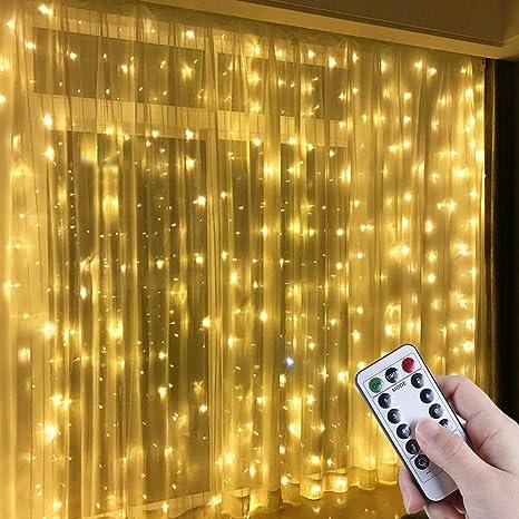 Anpro Luz Cadena Luz de Cortina USB, con 300 Bombillas LED ...