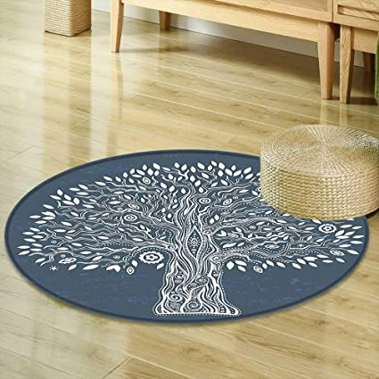 Amazon Round Area Rug Carpet Tree Of Life Decor Collection Cool Carpet In Bedrooms Decor Collection
