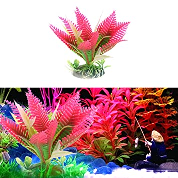 yumian aquarium decorations 2pcs christmas flower water plant grass for aquarium fish tank landscape decoration