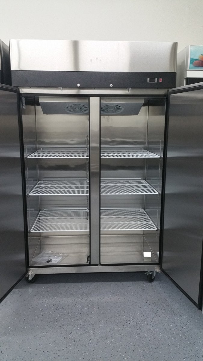 2 Door Stainless Steel Reach In Commercial Freezer – MBF8002