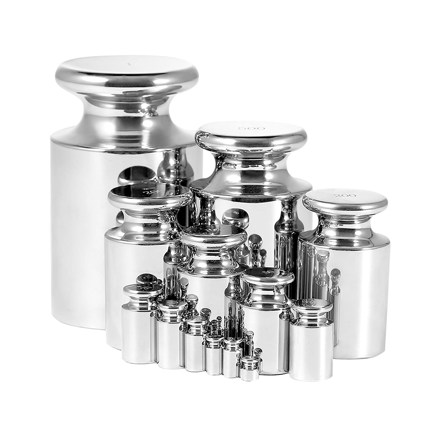 LOVSHARE Calibration Weight F1 Class Scale Calibration Weight Stainless Steel Calibration Weight Set