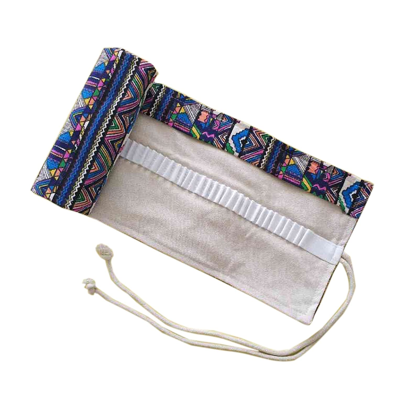 WSLCN Canvas Pencil Wrap Drawing Pencil Roll up Pencil Bag Pen Case Storage Pouch Portable 36 Holes BD0390-36
