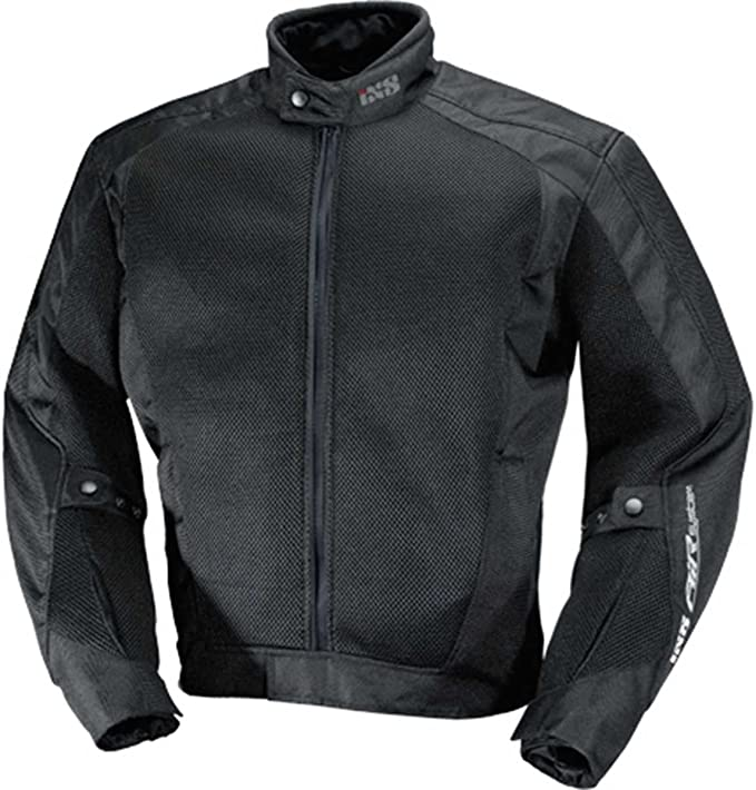 Black//White, XX-Large IXS Mens Airmesh Evo 2 Jacket