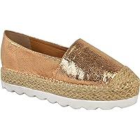 Fashion Thirsty Womens Flat Espadrilles Moccasins Flatforms Deck Wedge Shoes