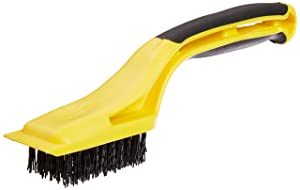 Hyde Tools 46804 Flexible Nylon Stripping Brush with Plastic Scraper and 1-1/8-Inch x 2-1/4-Inch Brush Area