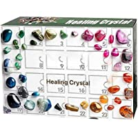 Healing Crystal Advent Calendar,rock, Fossil & Mineral Kit,with 24 Gemstones, 2021 Christmas Advent Calendar Toy for…