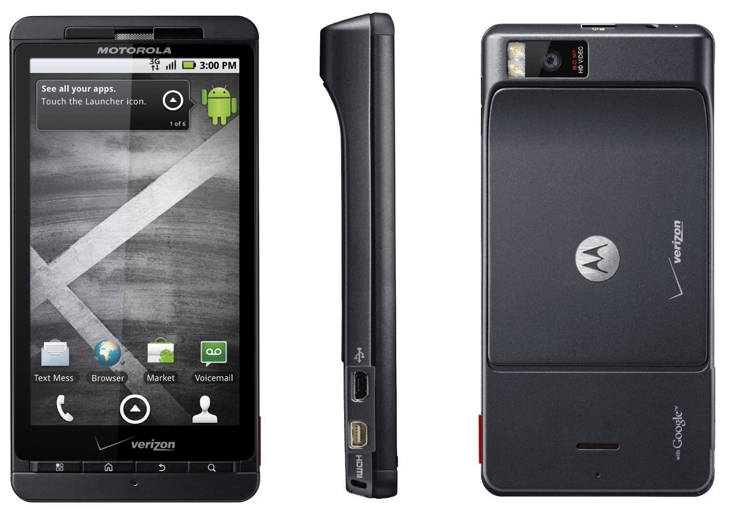 Verizon Motorola Droid X WiFi 3G Camera Android Smartphone Cell Phone