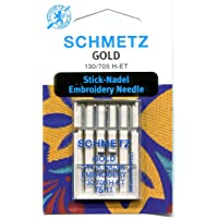 Schmetz Gold Titanium Embroidery Needle Range (Packs of