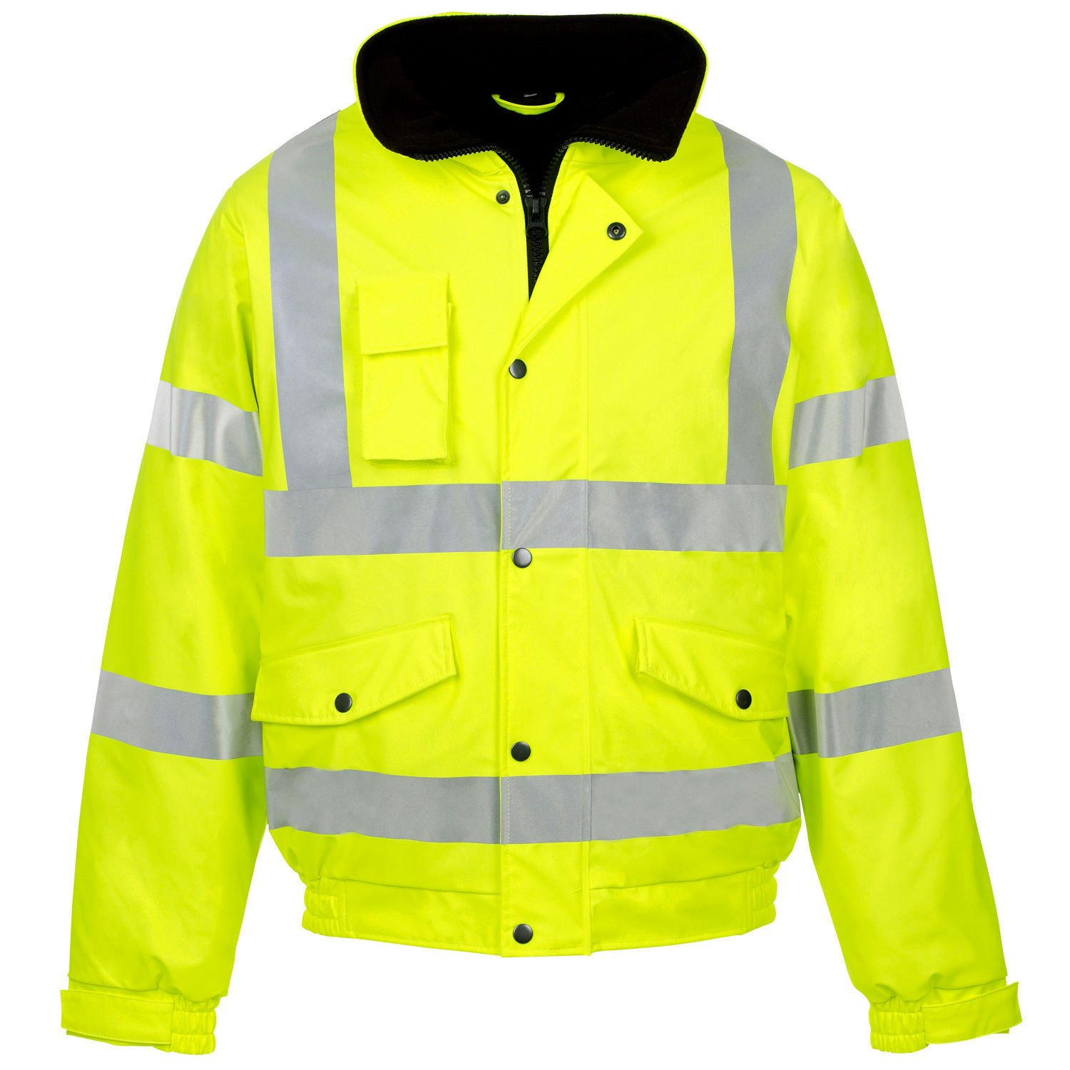Expert Workwear Hi Vis Viz Contractor Bomber Jacket High Visibility Safety Waterproof Coat 2 Tone