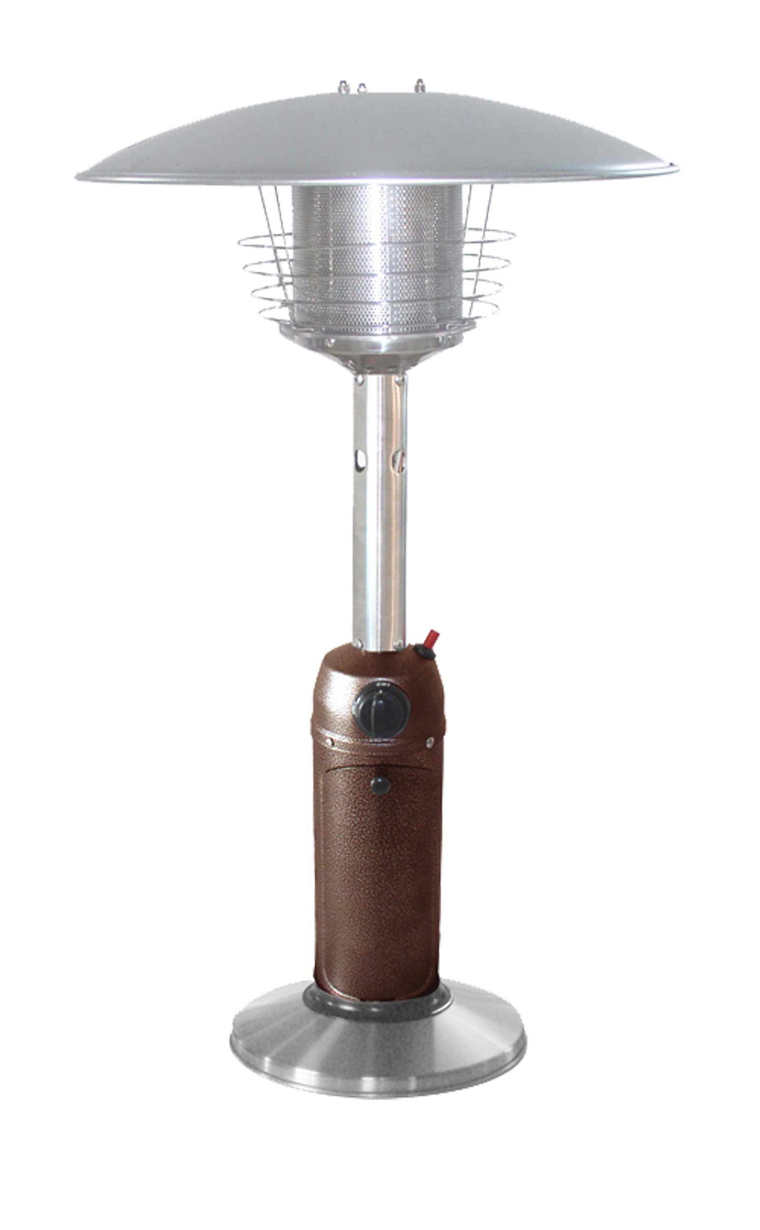 Hiland HLDS032-BB Portable Table Top Patio Heater, 11,000 BTU, Use 1lb or 20Lb Propane Tank, Hammered Bronze by Hiland
