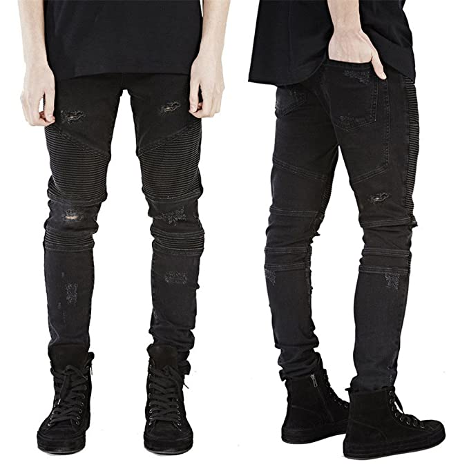 Amazon.com: nzk hombre Skinny Jeans Hombres Runway Slim ...