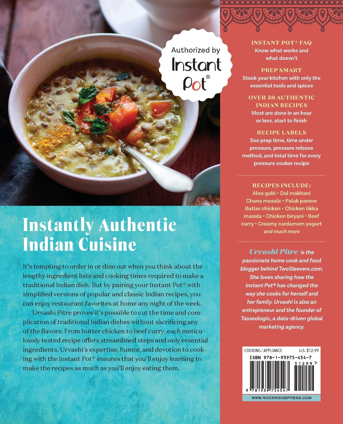 Indian instant pot cookbook traditional indian dishes made easy and indian instant pot cookbook traditional indian dishes made easy and fast urvashi pitre 9781939754547 amazon books forumfinder Gallery