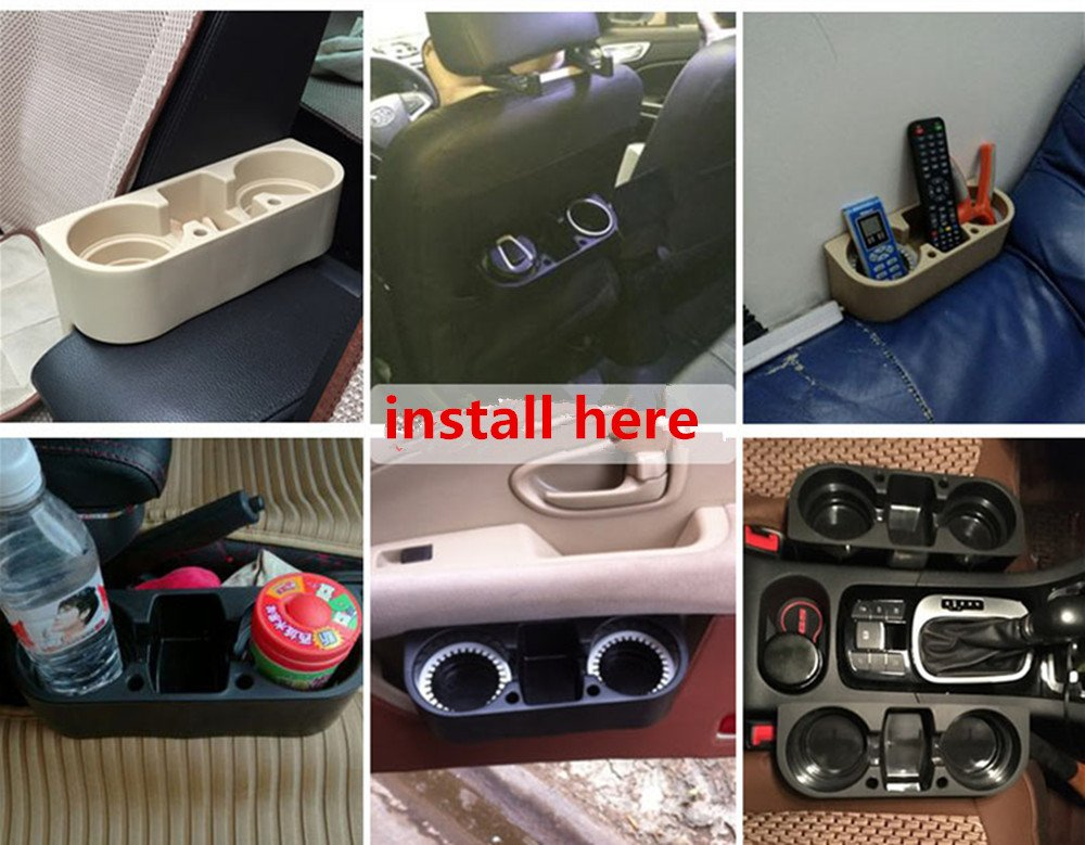 ROSY007 Drink Holder coffee Console Side Pocket with pen hole,Auto Front Seat Organizer Car Console and Seat Gap Cup//Mobile Phone Holder Storage Pocket Box Cage coffe catcher for car