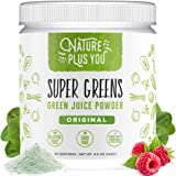Super Greens - Organic Non-GMO Supplement, Includes Spirulina, Alfalfa, Spinach, Probiotics, Fiber and Digestive Enzymes…