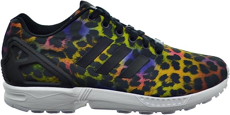 Superar cuadrado saber  Amazon.com: adidas ZX Flux Zapatillas para mujer, multicolor, estampado de  animales, color negro, 10.5 M US: Shoes