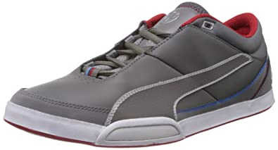 Puma Men s BMW M Dorifuto 2 Steel Grey and High Risk Red Leather Sneakers -  12UK 45d88c869