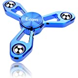 EZOON Tri Fidget Spinner Metal Finger Toys, Aluminum Hand Spinner Replaceable Bearing Max 4 Mins Spinning Time CPSC Certified EDC ADHD Focus Toy for Kids Adults