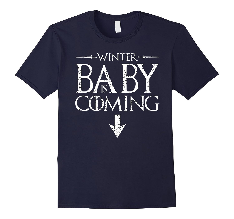 e823b455fd02e Funny Humor Maternity Shirts Sayings- Winter Baby is Coming-BN – Artshirtee