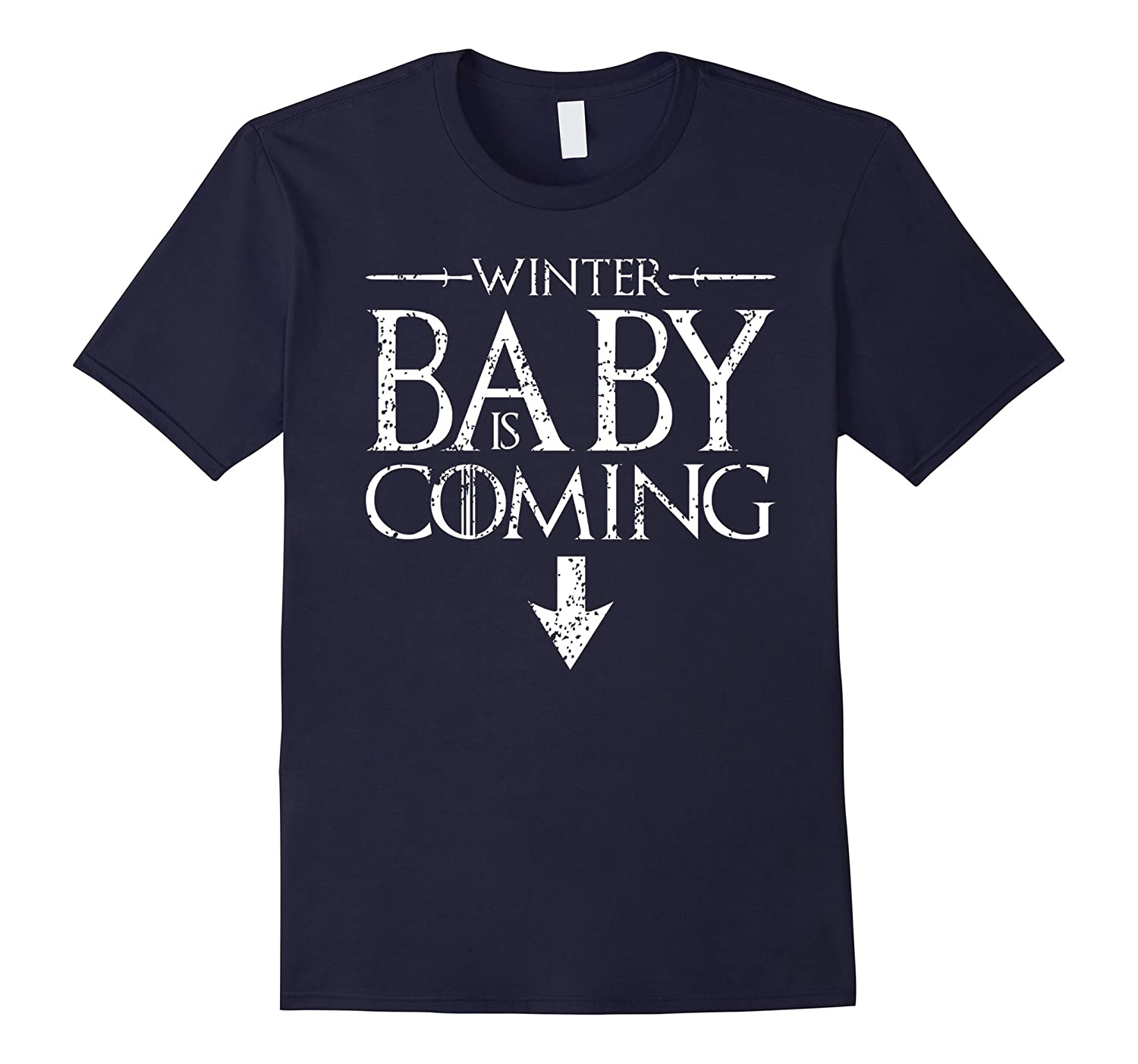 Funny Humor Maternity Shirts Sayings- Winter Baby is Coming-BN