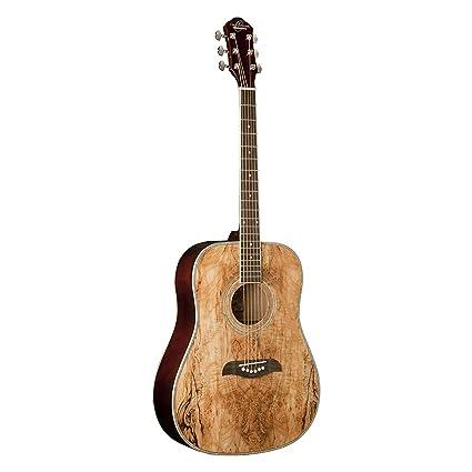 amazon com oscar schmidt og2sm acoustic guitar spalted maple