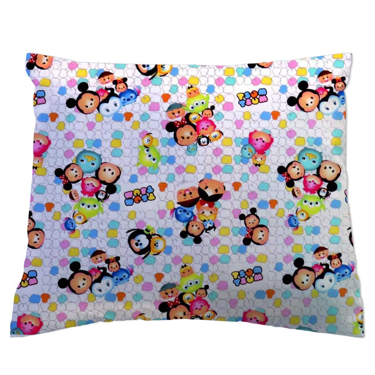 SheetWorld Crib Toddler Pillow Case, 100% Cotton Woven, Tsum Tsum Print, 13 x 17, Made in USA by SHEETWORLD.COM