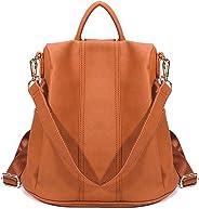 Women Anti-Theft Backpack Purse Shoulder Bag Soft Faux Leather Ladies Travel Bag